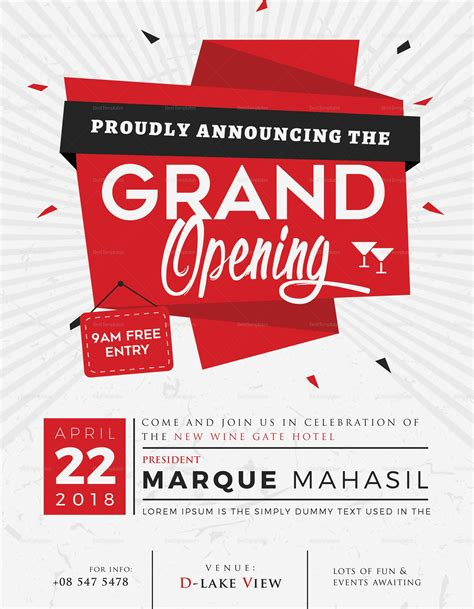 templates for grand opening flyers grand opening flyer design template in word psd