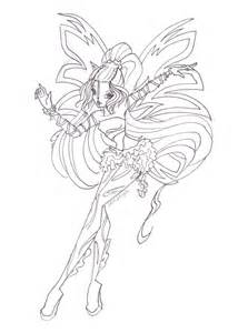winx club bloomix coloring pages images