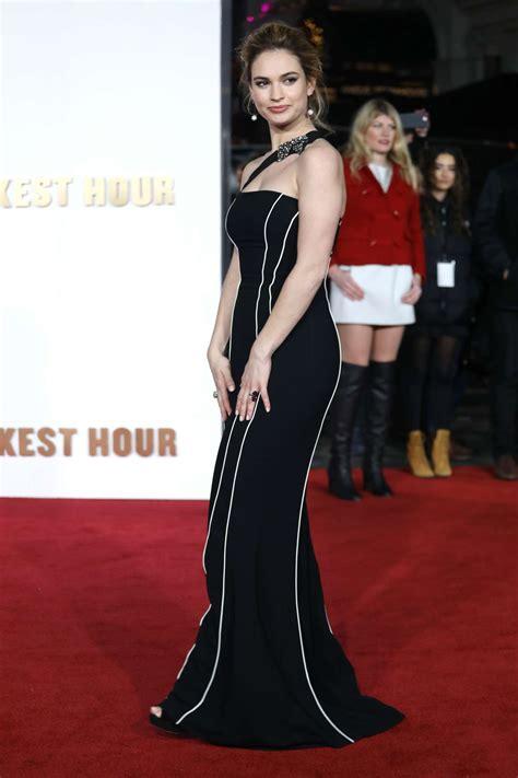 darkest hour premiere lily james darkest hour premiere in london 04 gotceleb