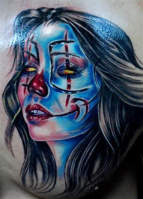 latino clown tattoo clown girl tattoo ideas and clown girl tattoo designs
