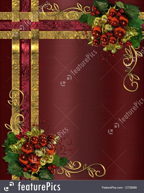 templates christmas background gold ribbons stock