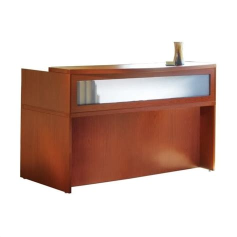 mayline reception desk mayline aberdeen 72 quot reception desk in cherry