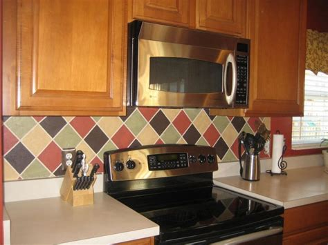 faux kitchen backsplash