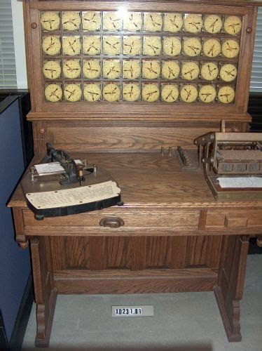Hollerith Desk by Hollerith Electric Tabulating System Replica Xd231 81