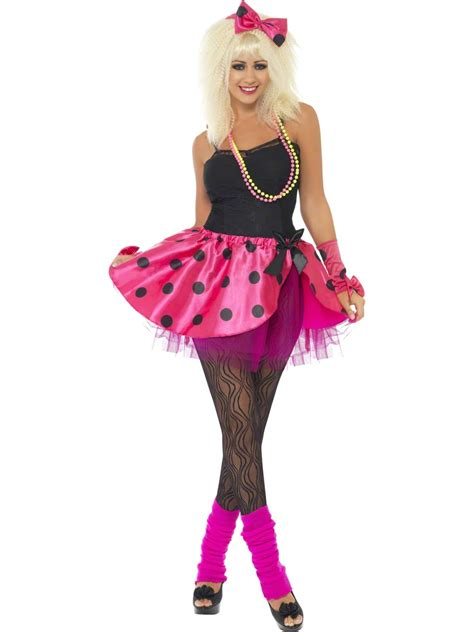 1980s Celebrity Ladies Fancy Dress Pop Star Retro 80s