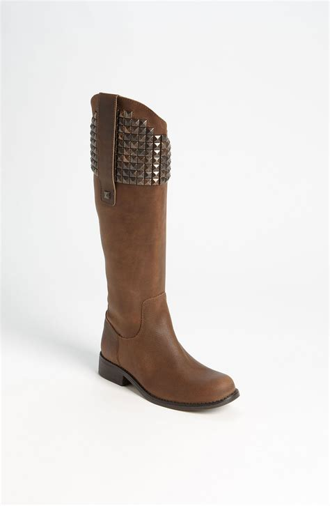 steve madden reggime boot in brown brown leather lyst