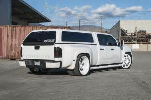 Wheels Dually Truck Stanced 6 Wheel Chevy Silverado Rides On Forgiato Dually
