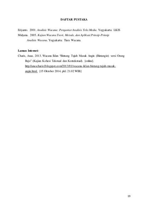 Analisis Wacana Pengantar Analisis Teks Media By Eriyanto analisis wacana iklan tv pepsodent versi ayo perbaiki