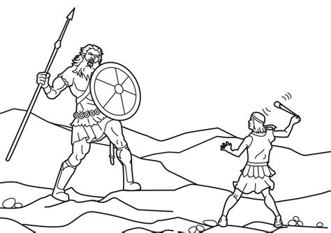 Coloring Page Goliath by David And Goliath Coloring Pages Az Coloring Pages