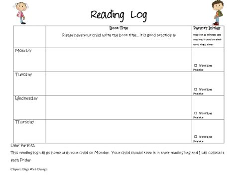 printable reading log for kindergarten reading logs mrs wills kindergarten