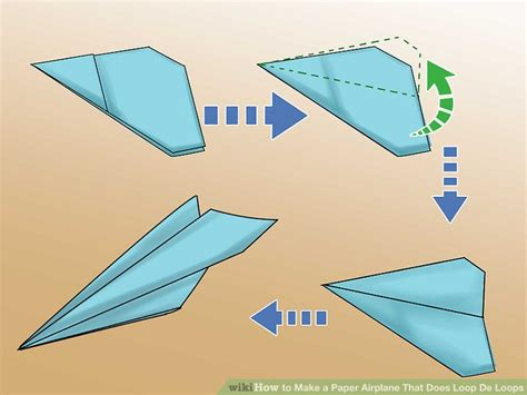 How To Make A Paper Airplane Turn Right - how to make a paper airplane that does loop de loops 7 steps