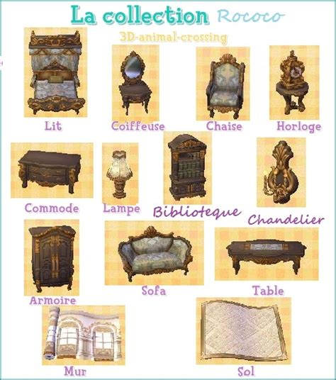 how to get the rococo set ib acnl toutes les collections de meubles 183 alice acnl
