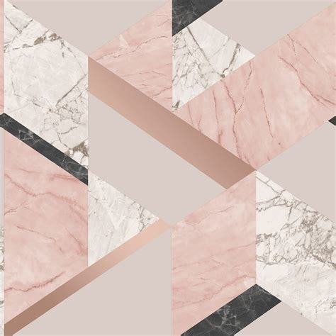 Geometric Marble decor marblesque geometric metallic marble wallpaper