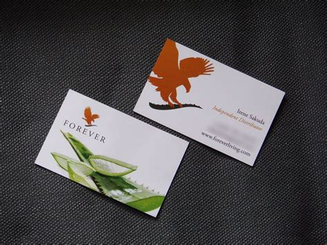 forever living business cards template forever living business cards ireland gallery card