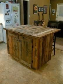 Reclaimed Kitchen Island Reclaimed Wood Kitchen Island Pallets Pinterest