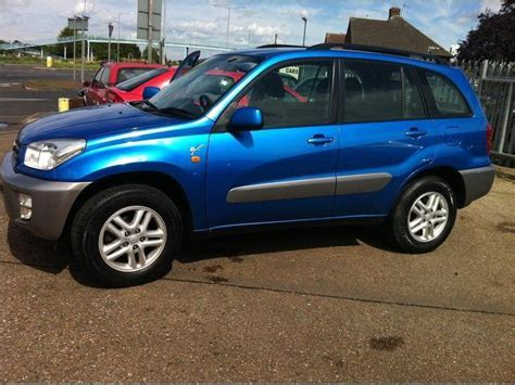 used toyota rav4 2003 petrol 2 0 gx 5dr 4x4 blue manual for sale in ashford uk autopazar