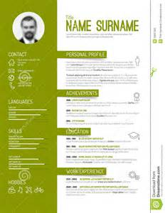 cv resume template stock vector image 53067320