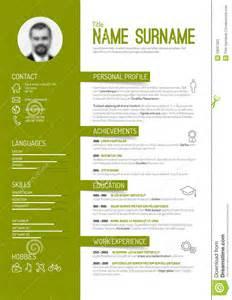 Plantilla Vacia De Curriculum Vitae Plantilla Cv Curriculum Vitae Ilustraci 243 N Vector Imagen 53067320 Curriculum