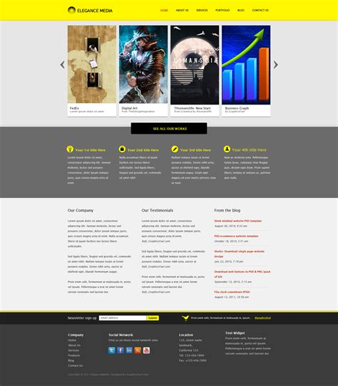 site templates clean business website template psd graphicsfuel