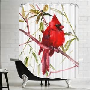 cardinal bird shower curtain wayfair