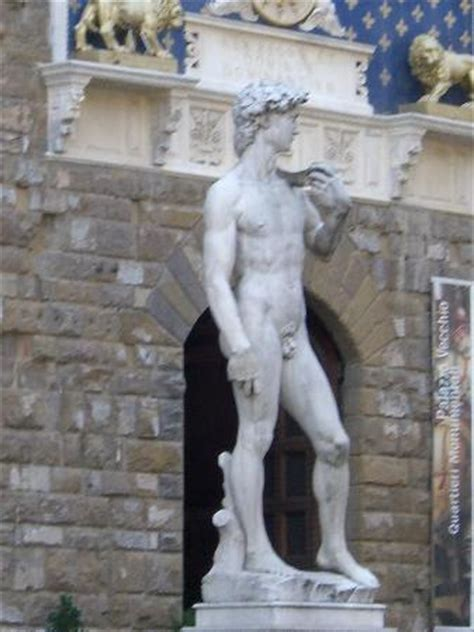 statue of david statue in front of uffizi picture of florence province