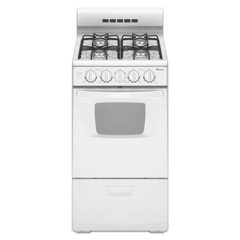 20 inch kitchen shop amana 2 6 cu ft freestanding gas range white