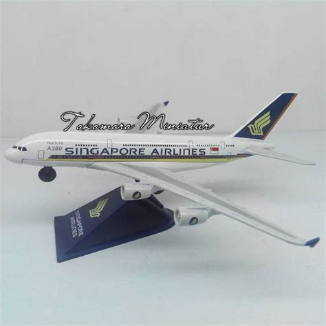 Miniatur Pesawat Malaysia Airline Airbus 380 jual miniatur pesawat terbang singapore airlines airbus