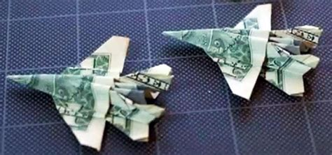 Origami Out Of Dollar Bills - how to fold an origami f 18 fighter jet out of a dollar