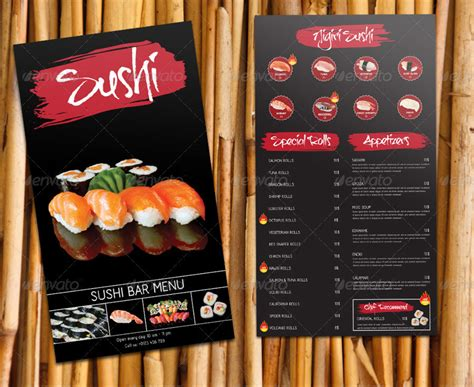 sushi bar restaurant menuekarte speisekarte