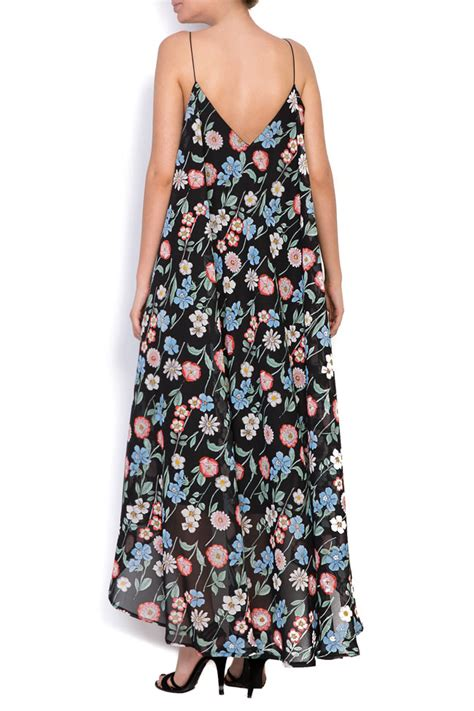Printed Midi Chiffon Dress asymmetric printed chiffon midi dress midi dresses made
