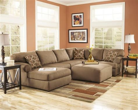 small living room sectional furniture living room fusion cowan mocha brown chaise living room sectional sofa