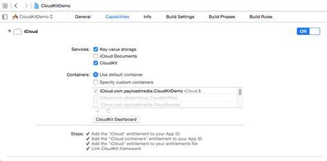 enable layout xcode an ios 9 cloudkit exle techotopia