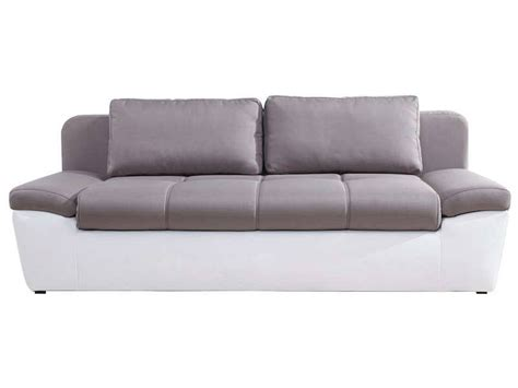 conforama canapé lit 3 places conforama canap 233 convertible 3 places uno coloris blanc