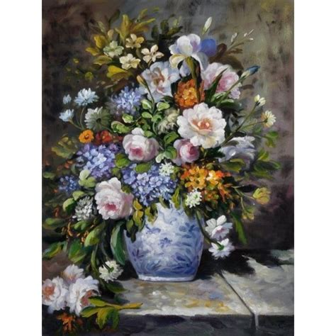 Vase Of Flowers Paintings by Quot Vase Of Flowers Quot By Auguste Renoir Painting