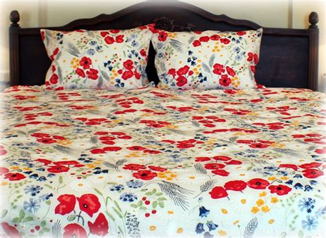 poppy bedding linen cloth bedding duvet luxury eco bedding poppy