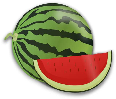 Semangka Vektor water melon clip at clker vector clip