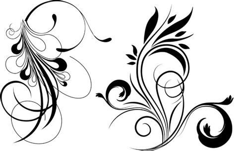 vector graphics design cdr files flores abstractas blanco y negro imagui