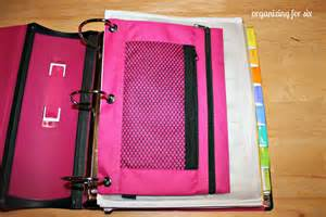 Have a pencil pouch in the front which houses my calculator a black