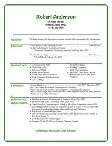 Resume Template For High School Students by Entry Level Resume Template For High School Students Recentresumes