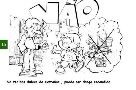imagenes para pintar sobre la droga fichas de prevencion para ni 209 os en blanco y negro para pintar