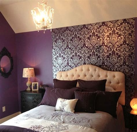 bedroom stencil designs best 25 purple bedroom accents ideas on