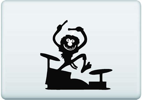 Decal Sticker Macbook Drummer animal drummer decal dec mac animaldrummer 12 00