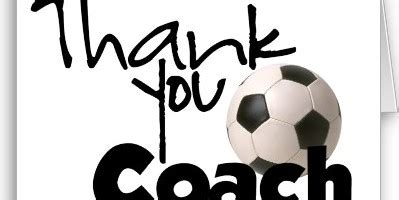 soccer thank you card template soccer coaches thank you quotes quotesgram