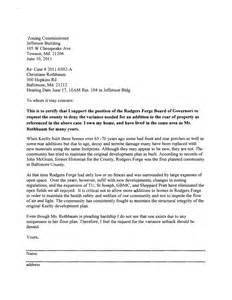 Zoning Verification Letter Sample Letter Opposing Zoning Variance Sample Business Letter
