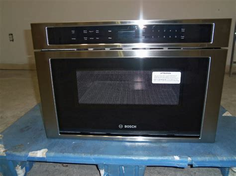 small microwave drawer bosch 800 hmd8451uc 24 quot built in microwave drawer