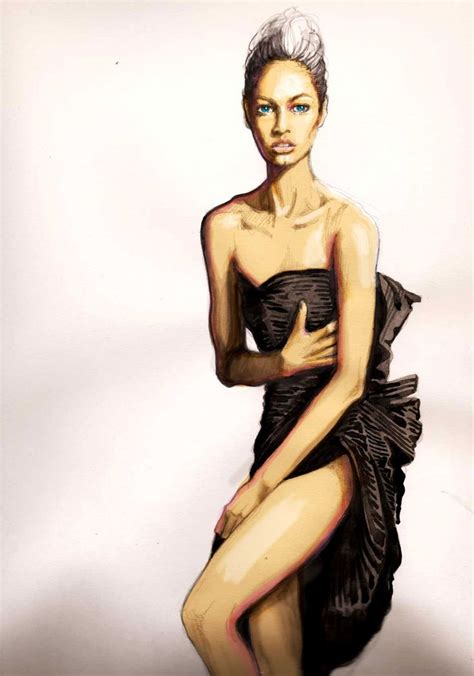 Black Rei Dress black dress by kasia rei fashion illustrations