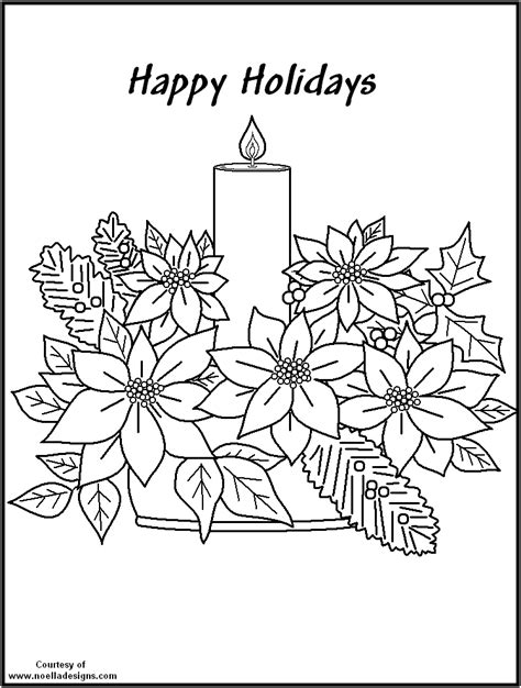 free coloring pages of christmas poinsettia
