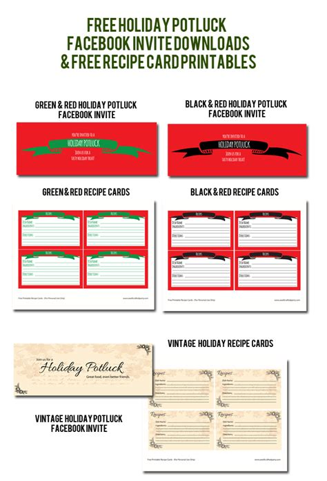 printable christmas potluck list holiday potluck free downloads printables a well