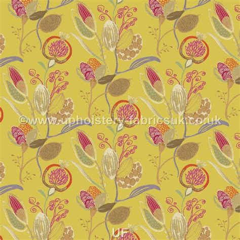 yellow upholstery fabric uk edinburgh weavers exotica mystical indian yellow