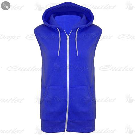 Jaket Zipper Hoodie Sweater You Hitam 3 sleeveless hooded hoodie casual zipper sweatshirt gilet jacket jumper top ebay